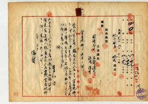 紫來宮管理人張番王外八名出願官有地賣拂處分方委任(臺北廳)